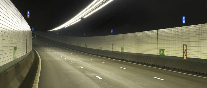 Un túnel iluminado por Philips Lighting